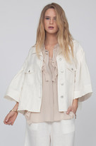 Gold Hawk Linen Wide Sleeve Jacket