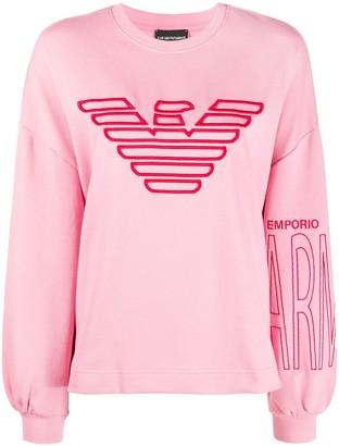 Emporio Armani Embroidered Logo Loose Fit Sweatshirt