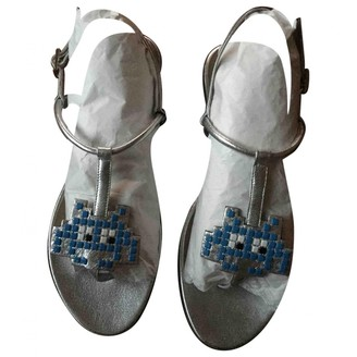 Anya Hindmarch Silver Leather Sandals