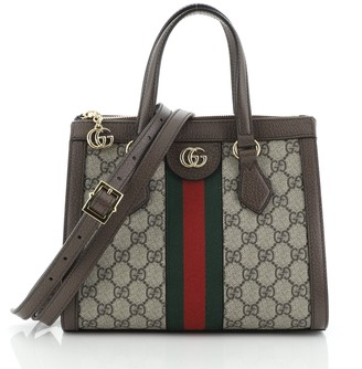 Gucci Ophidia Top Handle Tote GG Coated Canvas Small