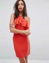 Oh My Love Frill Trim Bodycon Dress