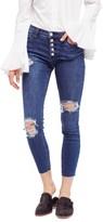 Free People Women's Reagan Destroyed Crop Skinny Jeans
