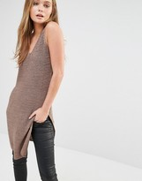 Only Sleeveless Tunic with Slide Split