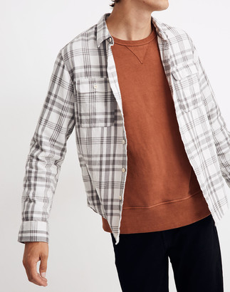 Madewell Flannel Long-Sleeve Workshirt in Patton Plaid