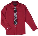 Arrow Shirt and Plaid Tie Set