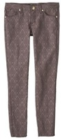 Mossimo Women's Jacquard Skinny Pant w/ Ankle Zipper - Assorted Colors