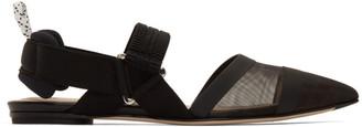 Fendi Black Colibri Slingback Ballerina Flats
