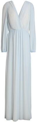 Rachel Gilbert Naya Crepe Plisse Gown
