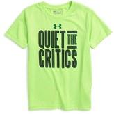 Under Armour Quiet the Critics HeatGear ® T-Shirt (Toddler Boys & Little Boys)