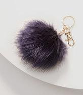 LOFT Faux Fur Pom Pom Keychain