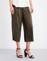 Theory Zavabell wide-leg silk-satin trousers