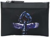 Lanvin winged lobster detail clutch bag - women - Polyamide - One Size
