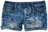 Mudd Girls 7-16 & Plus Size Tie-Dye Mixed Print Shortie Jean Shorts