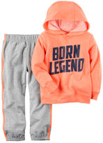 Carter's 2-Piece Neon Hooded French Terry Top & Jogger Set