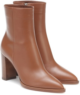 Gianvito Rossi Leather 85 ankle boots