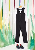 Boys' 8+ Years White Cotton Shirt With 'Artist Stripe' Cuff Lining
