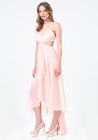 Bebe Petite Hi-Lo Bralette Dress