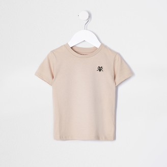River Island Mini boys Beige RVR multibuy t-shirt