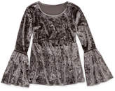 Arizona Velvet Bell Sleeve Top - Girls' 7-16 & Plus
