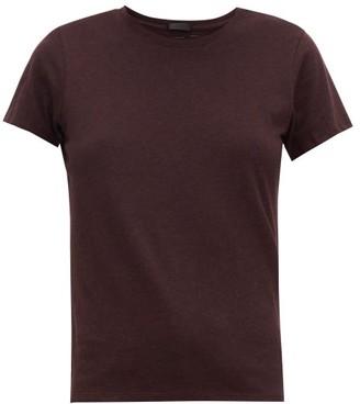 ATM - Schoolboy Slubbed-cotton T-shirt - Burgundy