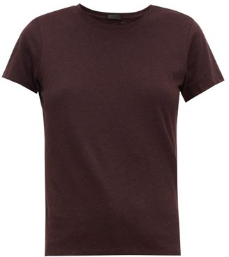 ATM - Schoolboy Slubbed-cotton T-shirt - Womens - Burgundy