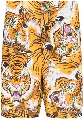Wacko Maria tiger-print Bermuda shorts