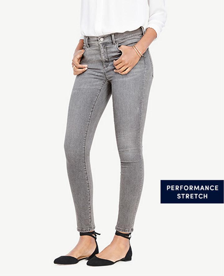 Ann Taylor Curvy All Day Skinny Jeans in Stormy Mist Wash