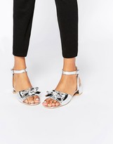Asos FUN FUN Bow Two Part Sandals