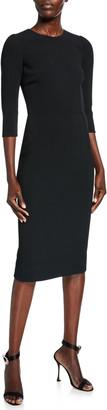 Dolce & Gabbana 3/4-Sleeve Crepe Dress