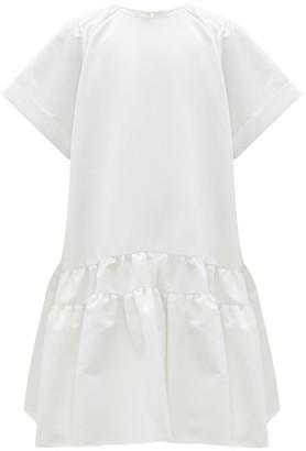 Rochas Tie-back Tiered Duchess-satin Dress - Ivory