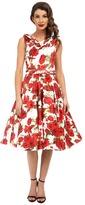 Unique Vintage Fleur Swing Dress