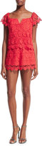 Yumi Kim Best Day Lace Romper, Red