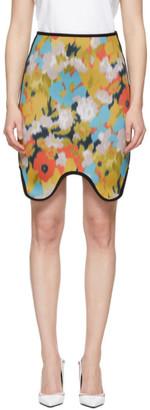 Calvin Klein Multicolor Neoprene Skirt