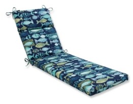 Pillow Perfect Hooked Lagoon Chaise Lounge Cushion