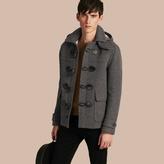 Burberry Wool Detachable Hood Duffle Jacket , Size: Xs, Grey
