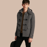 Burberry Wool Detachable Hood Duffle Jacket