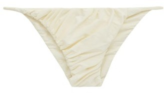 Isa Boulder Idris Ruched Bikini Briefs - Ivory