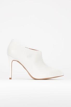 Wallis **White Heeled Shoe Boot