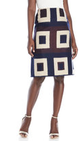 Maurizio Pecoraro Geometric Woven Midi Skirt