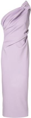Rachel Gilbert One-Shoulder Ruched Dress