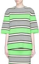 Marc Jacobs Stripe cashmere knit top