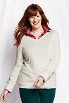 Classic Women's Plus Size Lofty V-neck Sweater-Coral Rock
