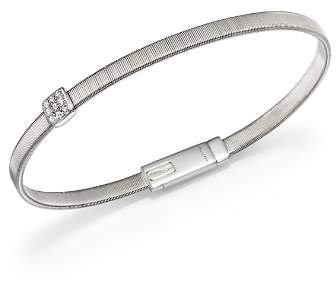 Marco Bicego 18K White Gold Masai Single Station Diamond Bracelet
