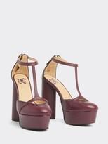Tommy Hilfiger Zendaya Leather Platform T Bar Shoes