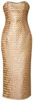 L'Wren Scott Gold Strapless Dress