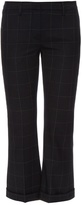 Brunello Cucinelli Windowpane-checked flared cropped trousers