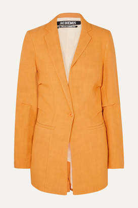 Jacquemus Bergamo Canvas Blazer - Orange