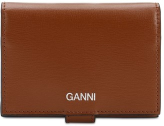 Ganni Smooth Leather Compact Wallet