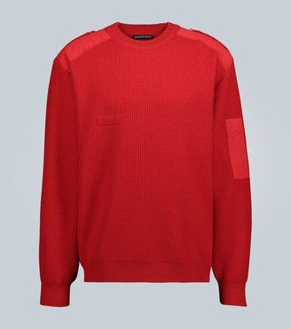 Balenciaga Knitted crewneck sweater with logo