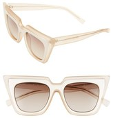 Le Specs Women's 'Edition One' 51Mm Sunglasses - Matte Blush/ Grey